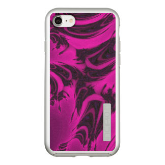 Pink and black fractal incipio DualPro shine iPhone 8/7 case