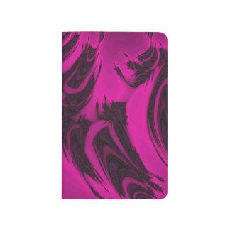 Pink and black fractal journal
