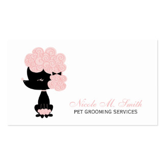 Pink and Black French Poodle Pack Of Standard Business Cards