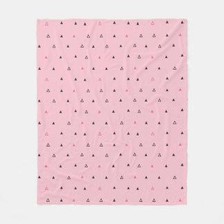 Pink and black geometric pattern Fleece blanket