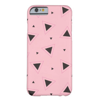Pink and black geometric pattern Iphone case