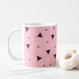 Pink and black geometric pattern Mug