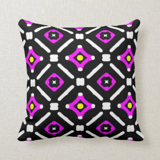 Pink and Black God's Eye Pattern Cushion