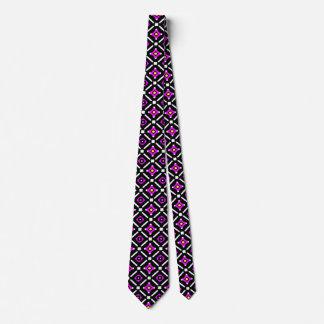 Pink and Black God's Eye Pattern Tie