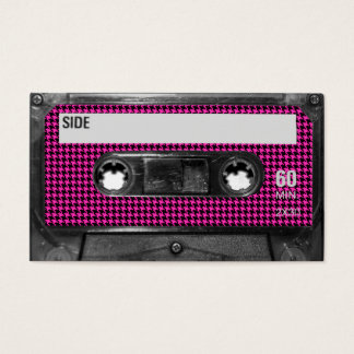 Pink and Black Houndstooth Label Cassette
