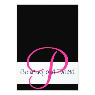 Pink and Black Invitation