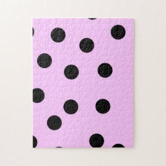 Pink And Black Large Polka Dots Puzzles