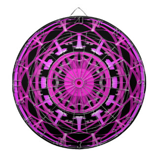 Pink and Black Mandala Dartboard