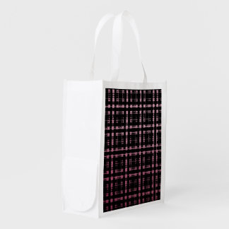 Pink and Black Modern Plaid Netted Ombra