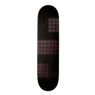 Pink and Black Modern Plaid Netted Ombra Skate Board Decks