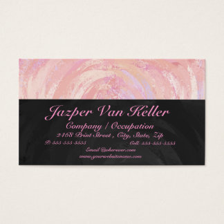 Pink and Black Monogram Business Card