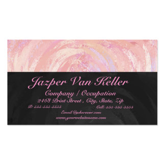 Pink and Black Monogram Pack Of Standard Business Cards