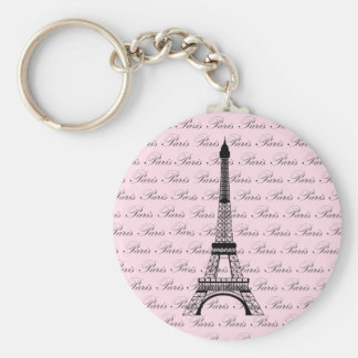 Pink and Black Paris Eiffel Tower Key Chain