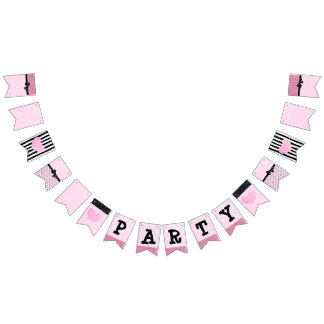Pink and Black Party Banner