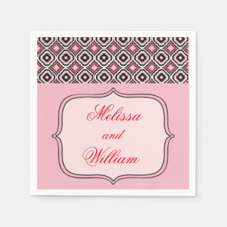 Pink and Black Pattern Disposable Napkin