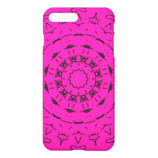 Pink and black pattern iPhone 7 plus case