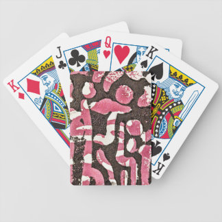pink and black patterned playing cards