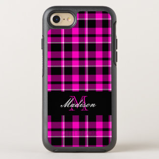 Pink and Black Plaid Modern OtterBox Symmetry iPhone 8/7 Case