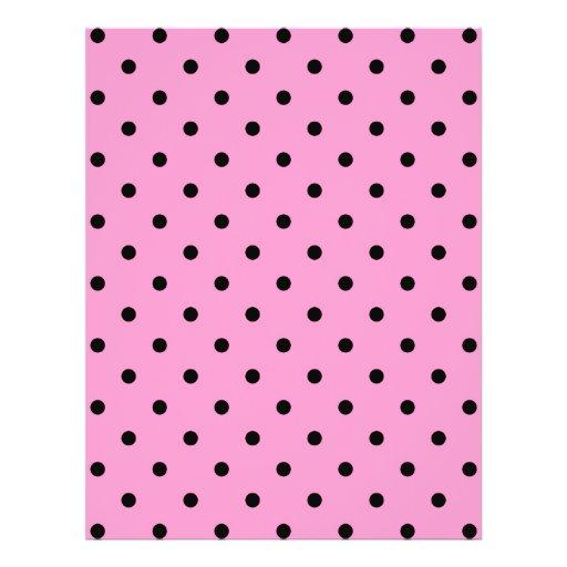 Pink and Black Polka Dot Pattern. Flyers