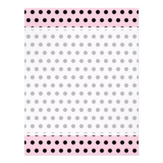 Pink and Black Polka Dot Pattern. Spotty. 21.5 Cm X 28 Cm Flyer