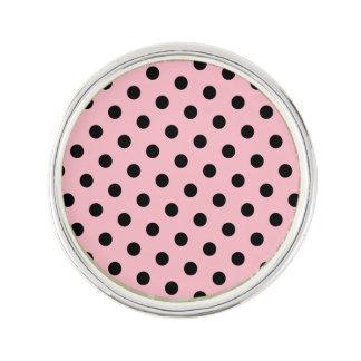 Pink and Black Polka Dots Lapel Pin
