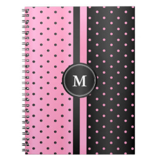 Pink and Black Polka Dots Notebooks