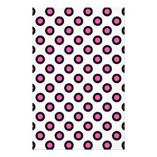 pink and black polka dots products personalized flyer