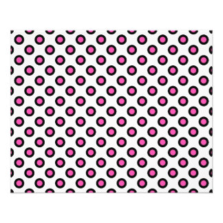 pink and black polka dots products flyers