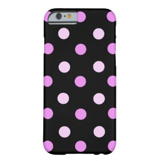 Pink and Black Polka iPhone 6 case Barely There iPhone 6 Case