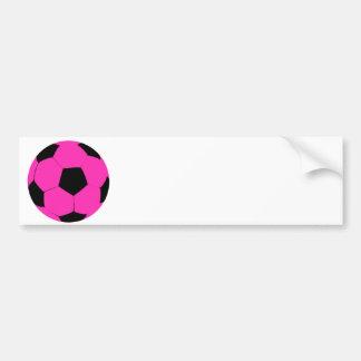 Pink and Black Soccer Ball Bumper Sticker