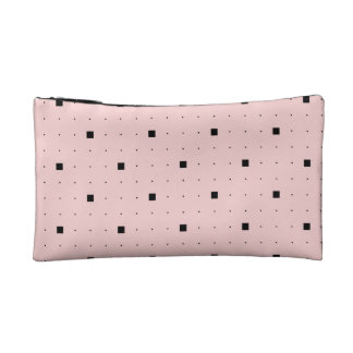 Pink and black sophisticated make-up bag cosmetic bag
