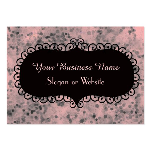 Pink and Black Sparkles Business Card