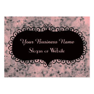 Pink and Black Sparkles Pack Of Chubby Business Cards