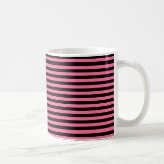 Pink and Black Stripes Coffee Mug