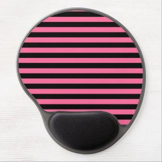 Pink and Black Stripes Gel Mousepad