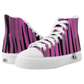 Pink and Black Tiger Camo High Tops