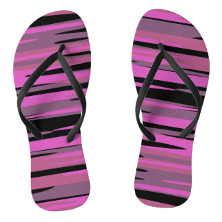 Pink and Black Tiger Camo Thongs