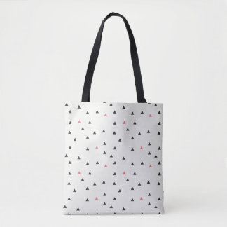 Pink and Black Triangles Tote Bag