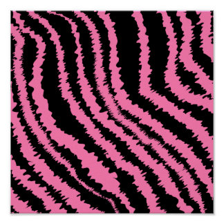 Pink and Black Zebra Print Pattern