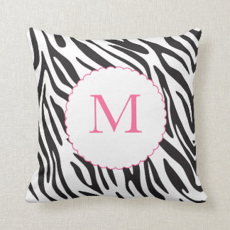 Pink and Black Zebra Stripes Pillow Throw Cushions
