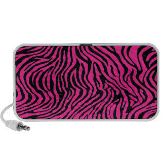 pink and black zebra stripes travelling speakers