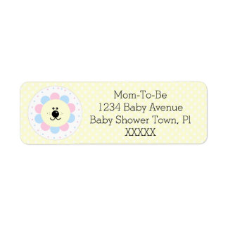 Pink and Blue-Baby Shower Return Address Label