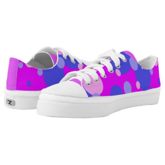 Pink and Blue Bubble Gum Pattern Shoes