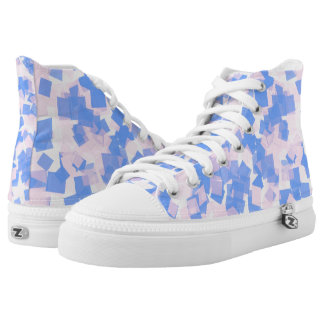 Pink and Blue Confetti High Tops