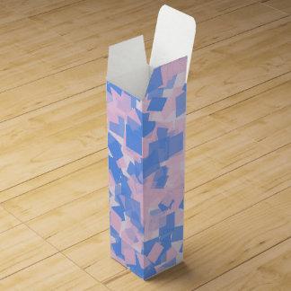 Pink and Blue Confetti Wine Box