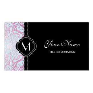 Pink and Blue Damask Design Business Cards