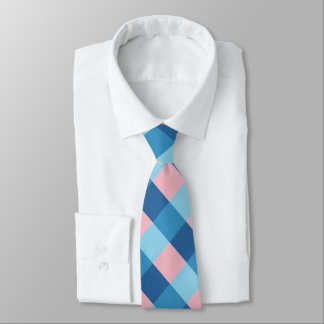 pink and blue diagonal stripe tie