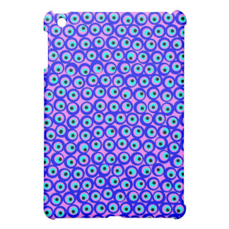 Pink and blue evil eye design  cover for the iPad mini