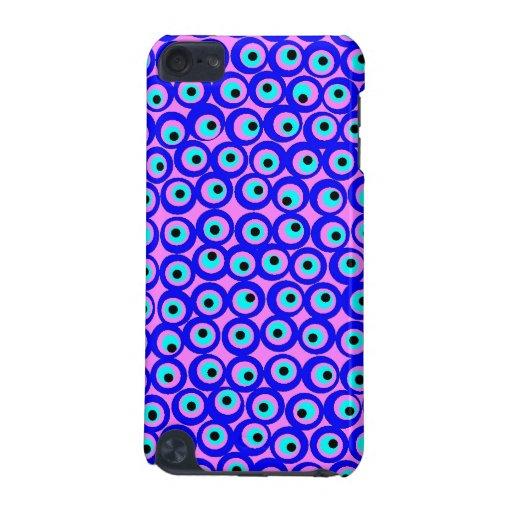 Pink and blue evil eye ipod touch case