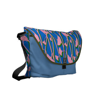 Pink and Blue Floral Courier Bags